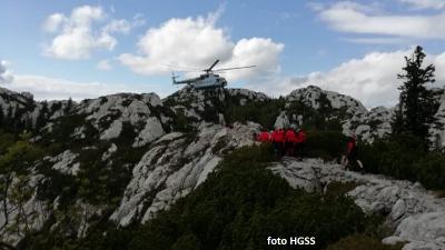 HGSS helikopterom izvukao planinarku ozlijeđenu na Premužićevoj stazi