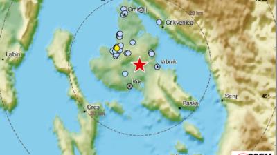 Potres s epicentrom na Krku osjetio se u Novom, Crikvenici i Kraljevici