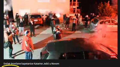 Video Tunere s dočeka kapetanice Ježić vidjelo 46 tisuća čitatelja