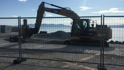 Počela obnova plaže i šetnice Škver