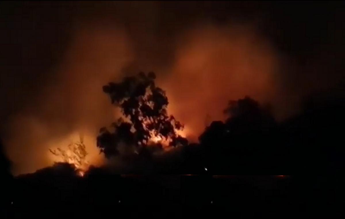 VIDEO Požar bukti iznad pruge u Meji